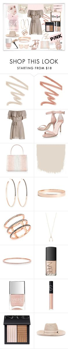 """""""Rose Gal"""" by emperormpf ❤ liked on Polyvore featuring NARS Cosmetics, Nancy Gonzalez, Lana, Lana Jewelry, EF Collection, Jennifer Meyer Jewelry, Nails Inc., Maison Michel and Linda Farrow"""