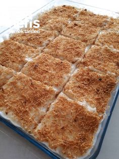 Çıtır Kadayıf Muhallebi (Kreması Harika) – Nefis Yemek Tarifleri Turkish Kitchen, Biscotti, Banana Bread, Deserts, Food And Drink, Cooking Recipes, Pudding, Yummy Food, Sweets