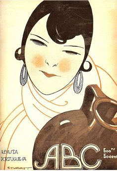 By Stuart Carvalhais , 3/1 9 2 2, ABC magazine, n 89. Illustrator, considered the father of Portuguese comic books (1887-1961).