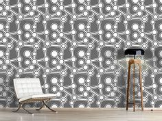 Design #Tapete Ab Original Grau