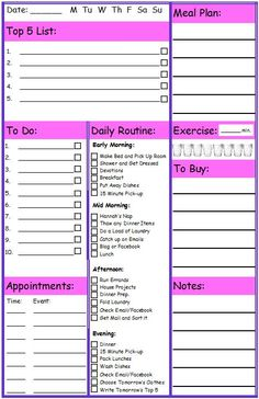 FREE Printable Planner Page!!  | candleinthenight.com