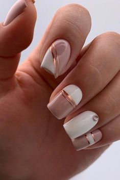 Chic Nails, Classy Nails, Stylish Nails, Elegant Nails, Square Nail Designs, Cute Nail Designs, Acrylic Nail Designs, Indian Nail Designs, French Manicure Nails