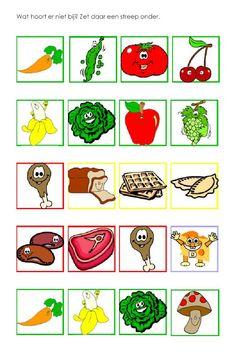 KleuterDigitaal - wbb eten wat hoort er niet bij School Fun, Pre School, Language Dictionary, Clip Art Pictures, Italian Language, Pre Writing, Writing Activities, Fruits And Veggies, Montessori
