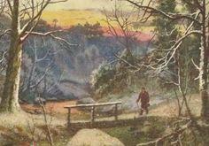 Vintage Christmas Postcard Tuck Oilette Walk in by TheOldBarnDoor, $4.50