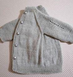 easy-to-grauer Nebel-Netting-Baby-to-Hirka anlatimli easy-to-grauer Nebel-Netting-Baby-to-Hirka anlatimli Baby Cardigan, Knit Baby Dress, Baby Pullover, Crochet Cardigan, Baby Knitting Patterns, Baby Clothes Patterns, Clothing Patterns, Diy Crafts Knitting, Quick Knits