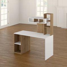 Ikea Home Office, Home Office Furniture Design, Office Table Design, Small Home Offices, Home Office Design, Home Decor Furniture, Home Office Table, Building Furniture, Space Saving Furniture