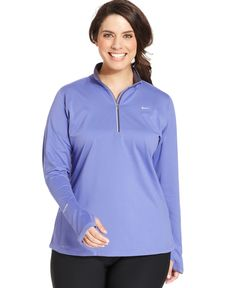 Nike Plus Size Element Long-Sleeve Dri-fit Half-Zip Top