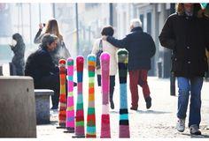 Skillful Yarn Bombing Street Art - My Modern Metropolis