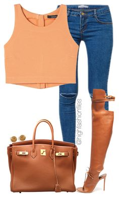 A fashion look from February 2015 featuring Kori jeans, Altuzarra boots and Hermès handbags. Browse and shop related looks. Chic Outfits, Fall Outfits, Fashion Outfits, Womens Fashion, Fashion Trends, Fashion Killa, Look Fashion, High Fashion, Casual Chic