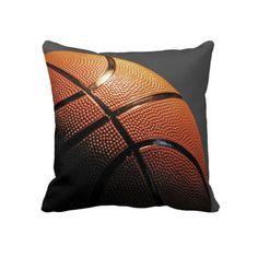 Basketball Ball Design Throw Pillows