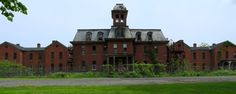 Panorama of the long-abandoned  Maples Building at the New York Asylum for the Chronic Insane