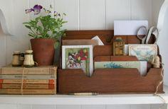 Organisation vintage style at Lavender House Vintage #vintage#books#letters#home#interiors