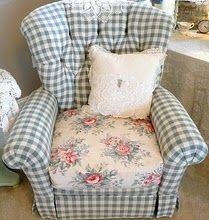 Vintage gingham chair