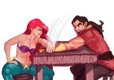 Ariel Gaston Arm wrestle woman rock