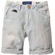 Scotch & Soda Chino Shorts - Slim Taper - Combo B (205 BRL) ❤ liked on Polyvore featuring kids and baby