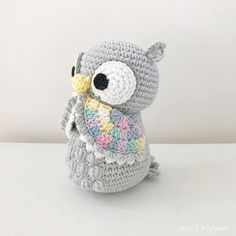 CROCHET AMIGURUMI OWL in TAN- Makes a great gift for: *Owl lover *Birthdays *Baby shower *New born gift *Christmas *Valentines Day *Mothers Day *Any special occasion! Meet Olivia the Owl. Her design has been revamped and she has a cute little feathery tail to show off now. She