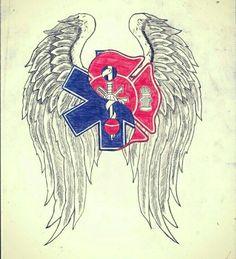 Resultado de imagem para emt and cross tattoos photos Ems Tattoos, Future Tattoos, Body Art Tattoos, Girl Tattoos, Sleeve Tattoos, Tattoos For Guys, Cross Tattoos, Tatoos, Brother Tattoos