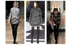 Leathery heights from: Balmain Chanel Emilio Pucci  Love all the boots... suede and leather both look fantastic! <3 far right outfit