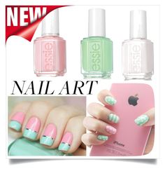 """""""nail art"""" by nurdana013 ❤ liked on Polyvore featuring beauty and Essie"""