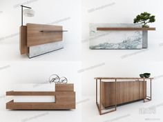 Bank of Montreal - marble effect porcelain reception desk - Kinorigo Reception Counter Design, Office Reception Design, Modern Reception Desk, Office Table Design, Dental Office Design, Modern Office Design, Hotel Reception, Clinic Interior Design, Lobby Interior