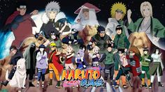 Naruto and all the other main characters(Naruto Shippūden) Intro picture