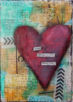 5x7 mixed media canvas by Christy Butters