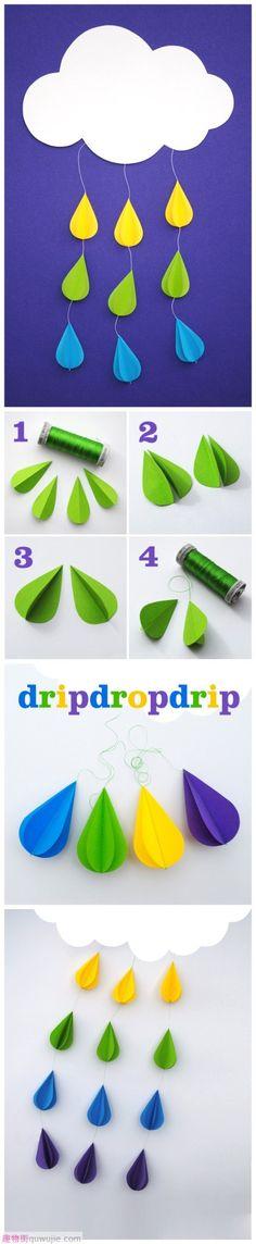 3D rain drops - for my kids school project