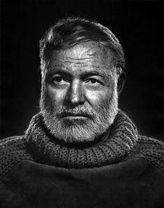 photos by Yousuf Karsh — Ernest Hemingway