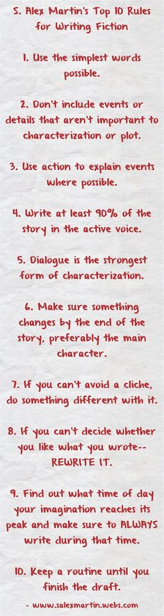 "Daily Writing Prompt: ""Write Your Own Top 10 Rules for Writing Fiction."""