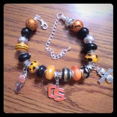 Oregon State Beavers Inspired Charm Bracelet Oregon State Beavers Inspired European Charm Bracelet - NCAA, March Madness. No trades.  Use offer button. Jewelry Bracelets