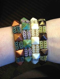 Pyramid bead bracelet - Bead&Button Magazine Community - Forums, Blogs, and Photo Galleries