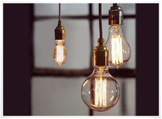 Vintage lampholders and old filament bulbs looking awesome. www.kiwiliving.co.nz