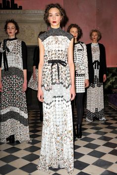 Brood Fall 2013 RTW Collection - Really beautiful use of patterns here - not patterns that I would like on their own, but the seem to come together into a melancholy weary wispy pretty way here