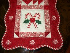 Candy Cane Table Runner by BarbiesQuiltShop on Etsy