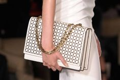 Victoria Beckham laser cut shoulder bag