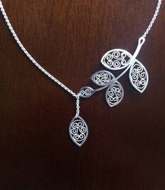 Katja von Elbwart: silver filigree leaf necklace