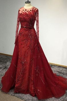 Designer dresses for prom homecoming party dresses, plus size prom dresses, affordable evening dresses and formal dresses. Red Formal Dresses, Formal Dresses With Sleeves, Plus Size Prom Dresses, Gowns With Sleeves, Event Dresses, Ladies Dresses, Red Wedding Gowns, Maroon Wedding, Affordable Evening Dresses
