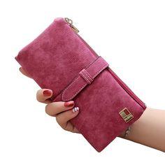 1df6852c05fb2 Fashion Luxury Brand Women Wallets Matte Leather Wallet Female Coin Purse Wallet  Women Card Holder Wristlet Money Bag Small Bag - Shop The Nation
