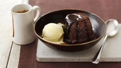 This quick sticky toffee pudding by James Martin looks so delectably and devilish it will have you licking the screen.
