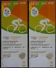 #Ticket  2 x TICKETS CT007 RADSPORT / CYCLING TRACK FINALS RIO 2016 OLYMPIC GAMES 15.08 #italia