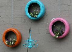 Decoração de Parede com Reaproveitamento de Pneus | Reciclagem no Meio Ambiente – O seu portal de artesanato com material reciclado