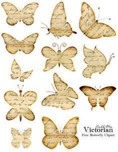 Best Free Printables for Crafts - Free Butterfly Printable - Quotes Templates Paper Projects and Cards DIY Gifts Cards Stickers and Wall Art You Can Print At Home - Use These Fun Do It Yourself Template and Craft Ideas Butterfly Clip Art, Diy Butterfly, Butterfly Images, Vintage Butterfly, Printable Butterfly, Butterfly Quotes, Butterfly Mobile, Butterfly Template, Flower Template