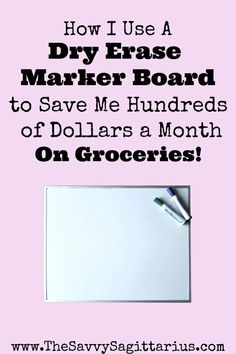 Groceries is the number one easiest category to go over budget on! Here is how I use a marker board for my meal planning to save me hundreds of dollars on groceries every month! Make Garlic Bread, Grocery Savings Tips, How To Make Spaghetti, Marker Board, Worst Names, Adding And Subtracting, Make A Plan, Save Money On Groceries, Frugal Living Tips