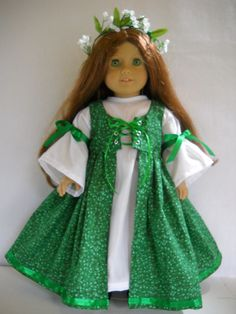 """Fits 18"""" American Girl doll Ireland Irish dress clothes J (COSTUME ONLY)"""