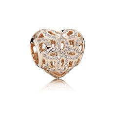 """Love & Appreciation"" charm by the Pandora Rose collection. I love the cut out design of this charm."