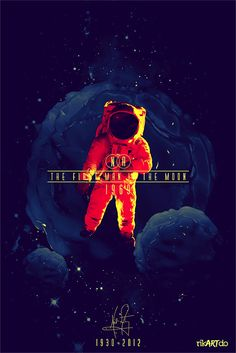 The first man in the moon by Ricardo Mondragon, via Behance