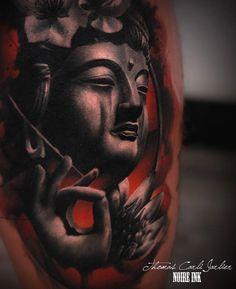 60 inspirierende Buddha Tattoo Ideen - Tattoo Motive - 60 inspirierende Buddha Tattoo Ideen You are in the right place about 60 inspirierende Buddha Tattoo - Buddha Tattoo Design, Buddha Tattoos, Hanya Tattoo, Tattoo Motive, Back Tattoo, Thigh Tattoo Designs, Tattoo Designs Men, Gautama Buddha, Tattoo Designs