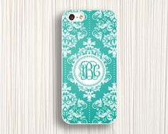 blue flower iphone 5c cases monogrammed iphone cases 5 by Emmajins, $9.99