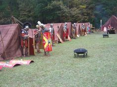 Dying a Tent - White tents to look like leather Roman Tents