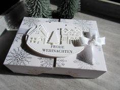 """Und weiter geht´s weihnachtlich. Eine Flip Top Box mit dem schönen Designerpapier """"Winterfreuden"""". Die Thinlits """"Winterstädtchen"""" ..."""